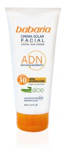 Babaria Aloe Vera Facial Sun Cream SPF 30 75ml (handbag size)